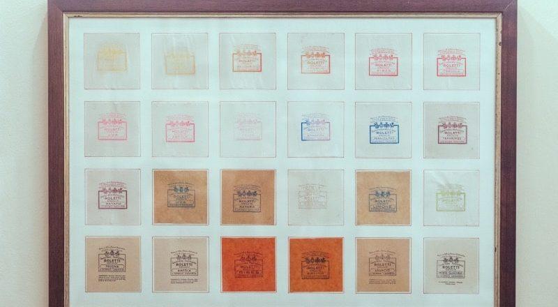 quadro contenente le cartine delle caramelle